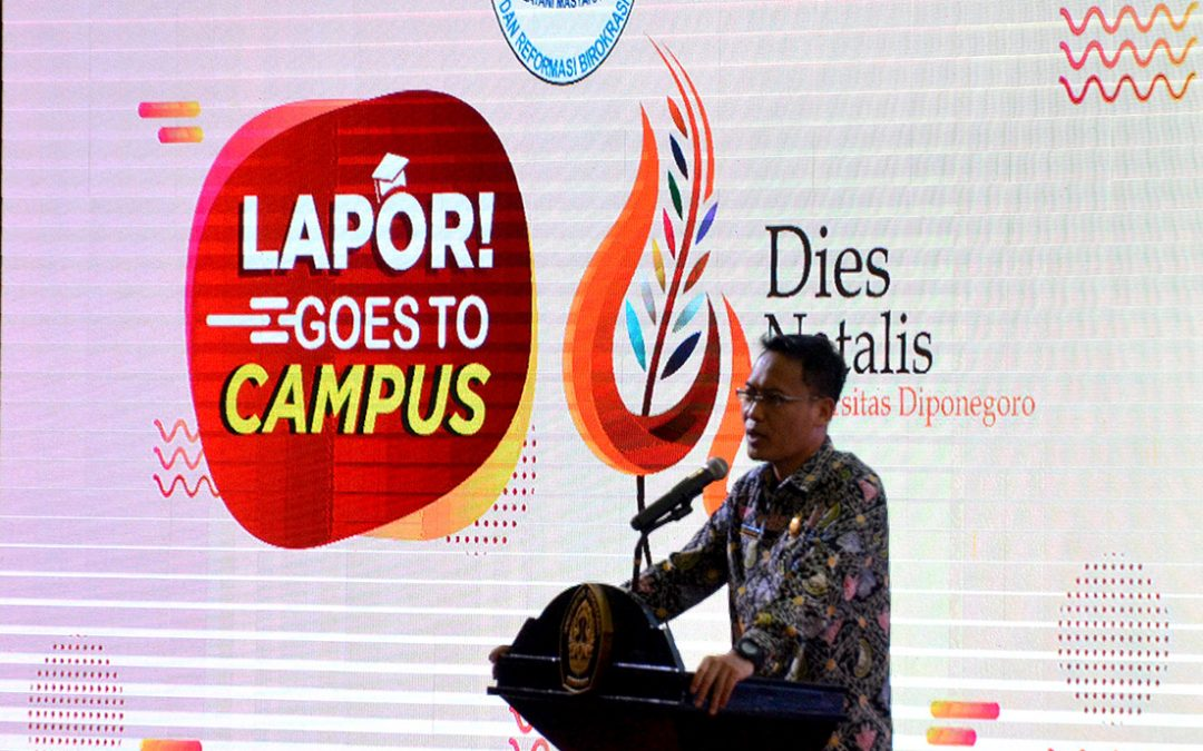 With the Ministry of PANRB, Undip Becomes Host of Lapor! Goes to Campus